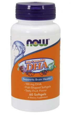 DHA 100 mg Kid's Chewable NOW