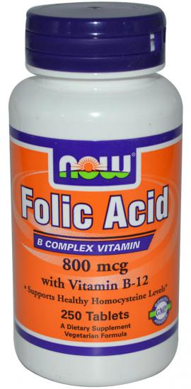 Folic Acid + B12 NOW
