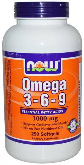 Omega 3-6-9 1000 mg 250 caps NOW